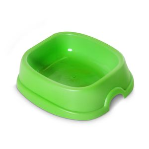 Tazón Cuadrado Pequeño para Mascotas Verde - Forte