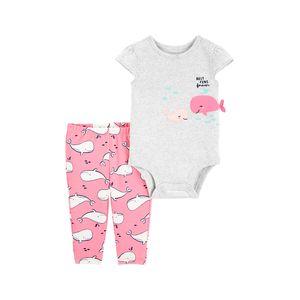 Set Body Delfín y Pantalón Bebés - Carter's