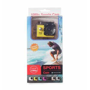 Cámara Deportiva Sumergible Full HD 1080p Amarilla - Sports Cam