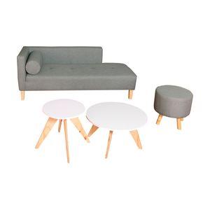 Combo Chaise Long, 2 Mesas, Puff Dko Design