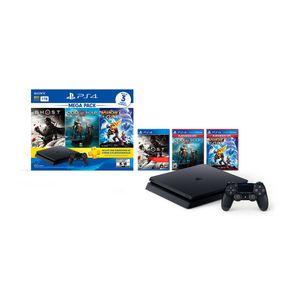 Consola PS4 1TB Megapack 18 + 3 Juegos
